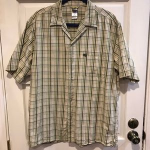 The North Face A5 Series Short Sleeve Plaid Large
